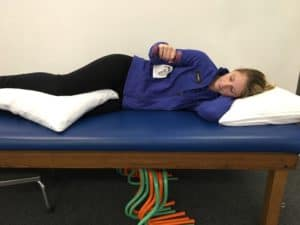 End position for External Rotation Exercise