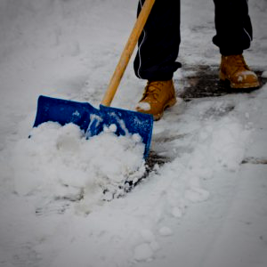 How to shovel snow the right way